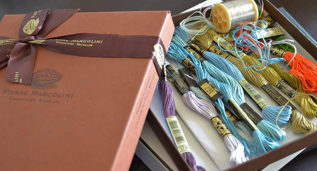 colouredThreads in Pierre Marcolini box