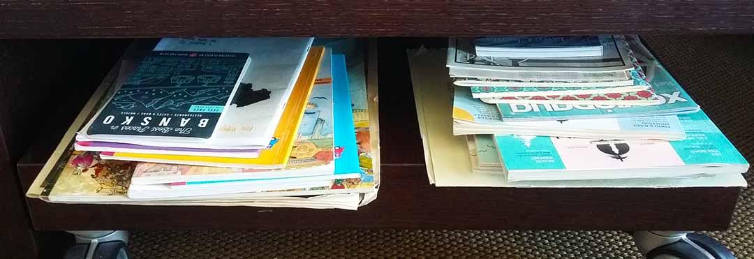 memorabilia stacks